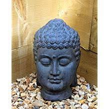 tête de bouddha décorative en céramique pour intérieur ou extérieur jardin décoration de maison