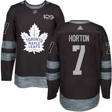 Anniversary Men's - 100th Toronto Maple Tim Horton Adidas Shop 1917- Jersey Black Authentic Leafs