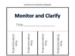 Monitor And Clarify Anchor Chart Monitor And Clarify Tips Reminders And Five Graphic Organizers