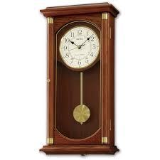 seiko pendulum wall clock qxh039bn ct