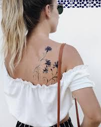 временная татуировка купить нежные васильки цветная