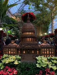 throughout the holiday season in washington dc there is a unique spectacle open to the public for free at the united states botanic gardens