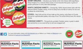 babybel light nutritional value americanwarmoms
