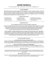 Resume Examples. law enforcement resume template entry level .
