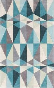 geometric rug pattern. Geometric Pattern Rugs Hand Tufted Contemporary Rug 8 X Blue Size