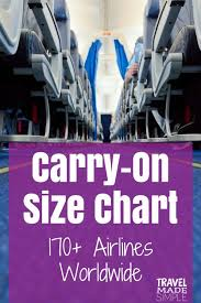 Travel Luggage Size Chart Carry On Luggage Size Chart 170 Airlines Travel Made Simple