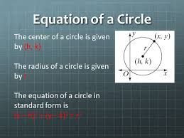 3 equation of a circle the center