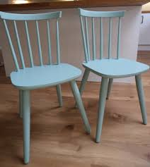 Period Bedroom Furniture Vintage Dining Chairs Upcycled With Craig Rose Morris Blue