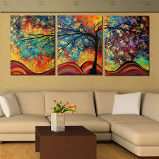 large wall paintingsAliexpresscom  Buy Large Wall Art Abstract Tree Painting