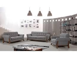 fabric sofa set. Kody Grey Fabric Sofa Set E