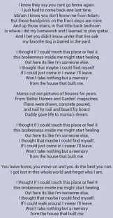 Small Picture miranda lambert house that built me lyrics The House That Built