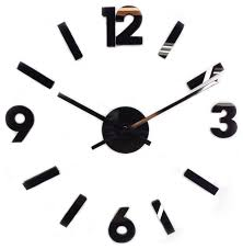 contemporary 30 diy self adhesive hanging wall clock