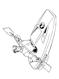 Coloring Page Action Man Kayak Coloring Me