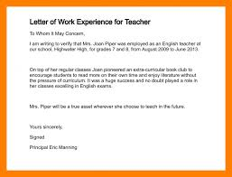 Work Experience Lette And Experience Letter Format Teaching Fresh 9