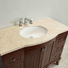 eviva odessa zinc 48 brown bathroom vanity set with crema marfil marble counter top