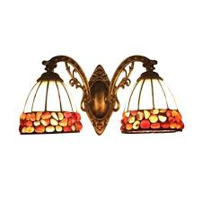 lighting styles. Vintage Tiffany Style 2-Light Wall Lamp With Stained Glass Shade In 16.5 Lighting Styles