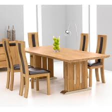 table and 6 chairs. cagliari oak dining table and 6 havana chairs 2