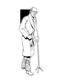 Small Picture Coloring page old man img 11347