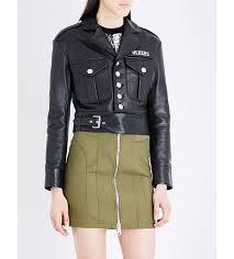 women jackets casual versus versace buckle leather jacket black women versus versace