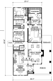Craftsman Style House Plan - 3 Beds 2 Baths 1628 Sq/Ft Plan swap kitchen  and dinning, shrink living. Attached garage, second floor suite.