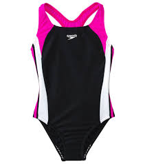 Speedo Girls Infinity Splice One Piece Swimsuit 4 6