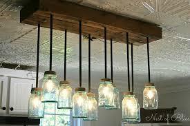 diy glass jar chandelier musethecollective