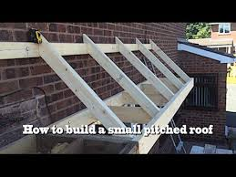 how to build a small pitched roof 2