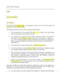 Formal Job Offer Template Templates Ideas Employment Job Offer Letter Template