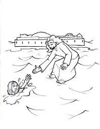 jesus walks on water coloring page. Interesting Page Jesus Walks On Water Coloring Page For K