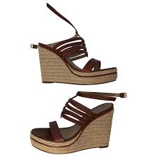 Leather Sandals Diane Von Furstenberg Brown Size 38 Eu In
