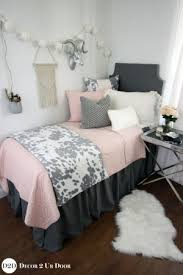 dorm room comforters. Contemporary Room Blush U0026 Grey Cowhide Dorm Bedding Set On Room Comforters W