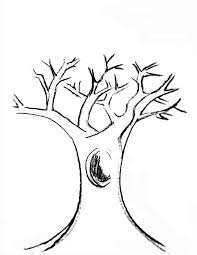 Small Picture Printable Tree Trunk Template Coloring Coloring Pages