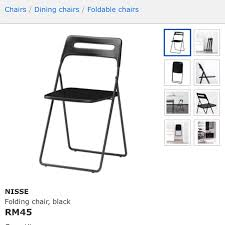white chairs ikea nisse folding chair high. Photo White Chairs Ikea Nisse Folding Chair High