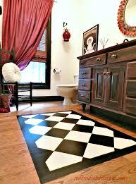 paint a rug on your floor
