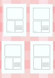 Postcard Template 4x6 Blank Postcard Template Examples Printable Free Redrockweb