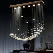 bybar modern chandelier rain drop lighting crystal ball fixture pendant ceiling lamp moon rain drop chandeliers lighting with crystal raindrop crystal