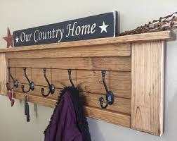 Entryway Shelf And Coat Rack Entryway coat rack Etsy 58