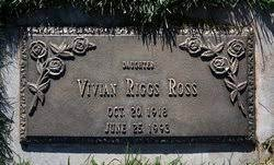 Vivian Riggs Ross (1918-1993) - Find A Grave Memorial