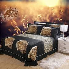 3d crouching leopard printed cotton 4 piece bedding sets duvet covers