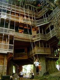 Now Thatu0027s A Real Millionaire Play Pad The Luxury Tree Houses Largest Treehouse In America