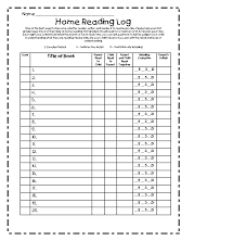 First Grade Reading Log Spotted In First Grade Reading At Home For Firsties