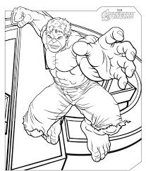 avengers symbol coloring pages squad superhero kids iron man captain best of hulk page