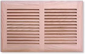 louvered wood vent cover