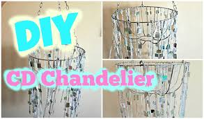 diy chandelier how to make a chandelier from old cds room decor you