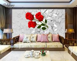 wall murals for living room. Beibehang Customize Any Size 3D Wall Murals Living Room Modern Fashion Broken Roses Photo Mural Tree For .