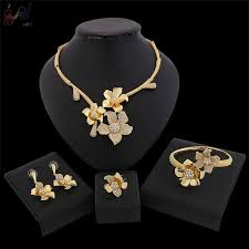<b>Yulaili</b> Flower Design Fashion <b>Dubai Gold</b> jewelry Set For Women ...