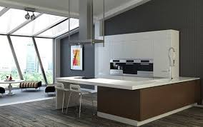 View in gallery White bar in a modern kitchen