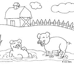 Farm Coloring Pages For Toddlers Farm Animal Coloring Pages For
