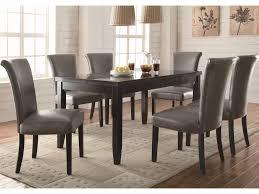 coaster newbridge 7 piece dining table chair set value city