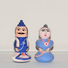 handmade wooden dolls man woman set